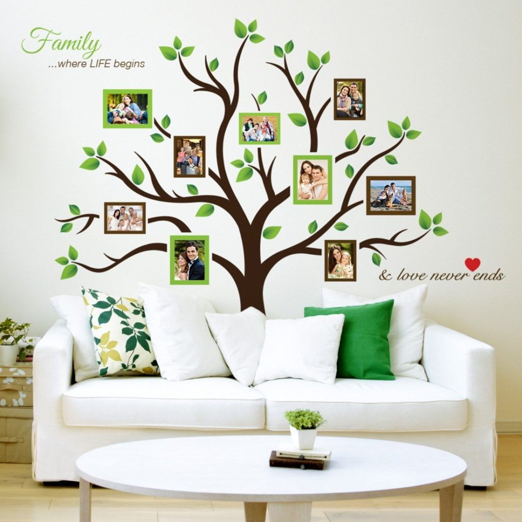Wall decals with picture frames